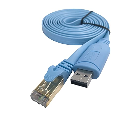 DSD TECH SH-RJ45P Cable de USB a Consola con Chip PL2303GT para conmutadores Cisco Routers 1.8M / 5.9FT