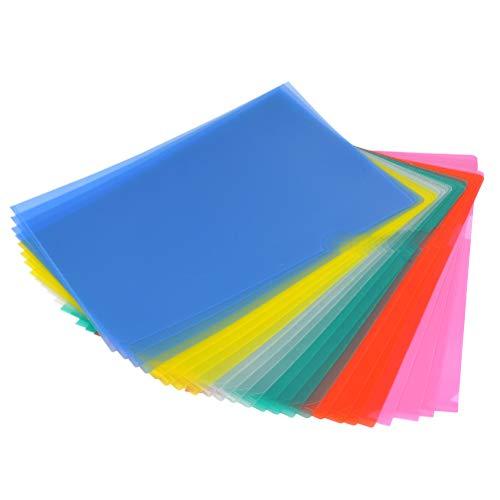 Carpeta YOTINO 24x Carpeta de documentos A4 de PP Color (azul claro, verde claro) Fundas transparentes a prueba de documentos en la parte superior y