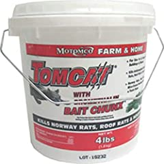 4 lb. Rodent bait Active ingredient: bromethalin Kills Norway rats, roof rats, and house mice For use in agricultural and rural settings Bromethalin is a potent acute toxicant Rodents stop feeding after eating a toxic dose so more rodents are control...