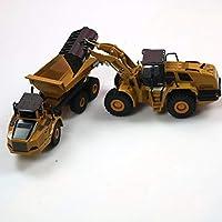 1:50 ダンプトラックショベルホイールローダーダイキャストメタルモデル建設車両のおもちゃボーイズ誕生日ギフト車コレクション