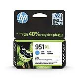 HP 951XL CN046AE Cian, Cartucho de Alta Capacidad Original, de 1.500 páginas, para impresoras HP Officejet Pro serie 8600, 8100, 251dw y 276sw