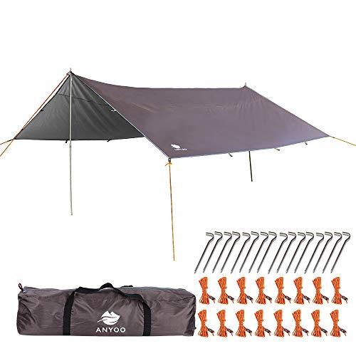 Anyoo Ripstop Rain Tarp Beach Tent Hamaca Fly Sunshade Ligero Impermeable...