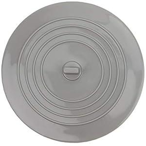 Tapón Universal de silicona para el desagüe de la bañera, la ducha y el fregadero de la cocina, Tapón de Drenaje desmontable, 15 cm de diámetro, para agujeros de desagüe de hasta 120 mm, gris