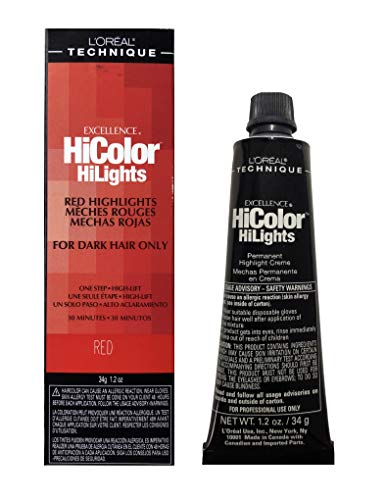 L 'Oreal Excellence Hicolor Permanent Hair Dye For Dark Hair Red, Magenta & Blonde (Red)