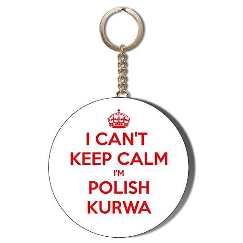 Gift Insanity Abrebotellas con llavero de 58 mm con texto 'I Can Keep Calm I'm Polish