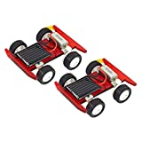 SM SunniMix 2pcs Kinder Wissenschaft Lernspielzeug - DIY Montiert Solar Auto Spielzeugauto Modellbausätze Experiment Kit -