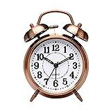 YSCSPQA Despertador Vintage Campana Reloj Despertador Retro Cuarzo Despertador Reloj Ticking Mesa Relojes Dormitorio casa Oficina decoración (Color : Red)