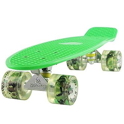 Meketec Skateboard Green Adults Little Cruiser Complete Kids Skateboards Youth Board for Boy Girl Beginners Children Toddler Teenagers Birthday (Green)