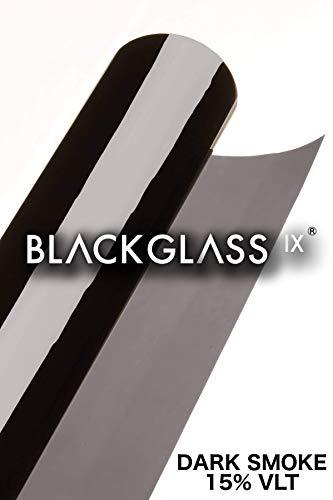BLACKGLASS IX® Scheibentönungsfolie Spitzenqualität Tönungsfolienrolle für Autos, Transporter und Fahrzeuge 17% VLT, 6 m x 65 cm, 2-lagig