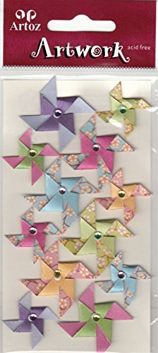 Papel para origami molinos de viento adornos para artesanía