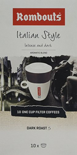 Rombouts Italian Ground Coffee One Cup Filters, 62 g, Pack of 4