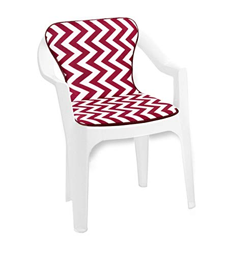 ARREDIAMOINSIEME-nelweb - Cojín universal para silla con rayas Zig Zag plegable, para piscina, playa, jardín, terraza, tejido de algodón, mod. violín, verde (11D)