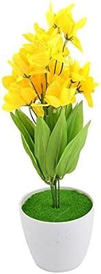 eDealMax domestica di plastica del mestiere di DIY decorativo simulazione artificiale Narciso Fiore Giallo