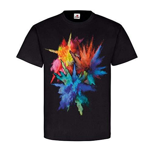 Copytec Farb Spiel Neon-Farben Bunt Crazy Farbexplosion Farbkombinationen Pulver #24761, Größe:L, Farbe:Schwarz
