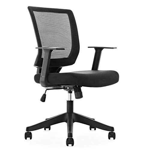 Mid-Back Ergonomics Office Chair, Breathable Mesh Desk Task Computer Chair with Adjustable Backrest and Armrest
