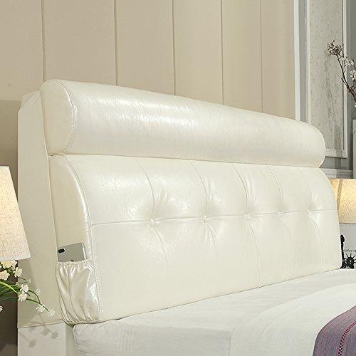Yuanyuanliu PU Serie de Color sólido cabecero Almohada Paquete Suave sofá Almohada...