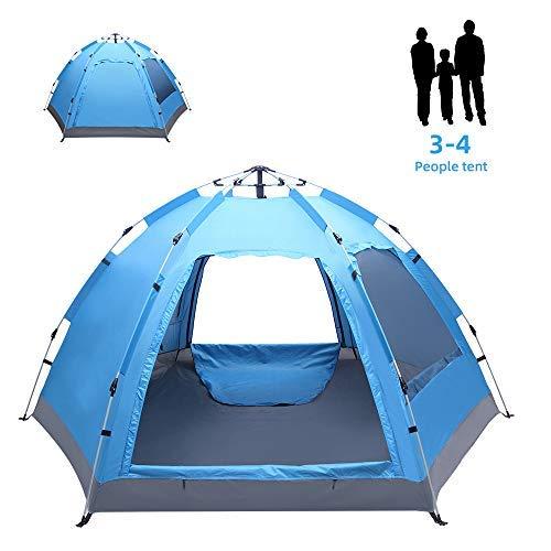 GFSDGF 4-5 Persona Camping Tienda Camping Automático Pop Up Tienda Impermeable Tienda Instantánea Familia Playa Tienda Portátil Mochila Tienda Impermeable