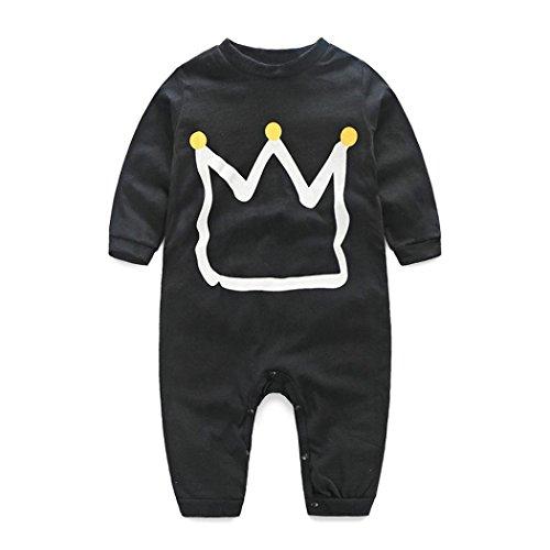 kingko® Newborn Infant Bébé Garçons Filles Imprimer Romper Jumpsuit Bodysuit Vêtements Tenues (6M)