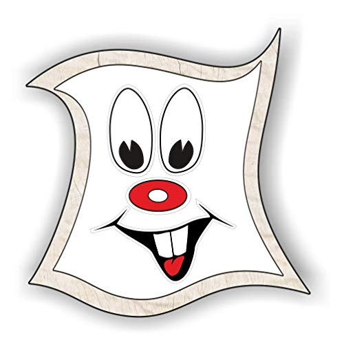 jeder-kann-basteln Schaeffer-Marketing / 1 x Sticker! Aufkleber-Gesichter mit Zähne! Lustige Etiketten (Augen, Nase, Mund) für Kinder