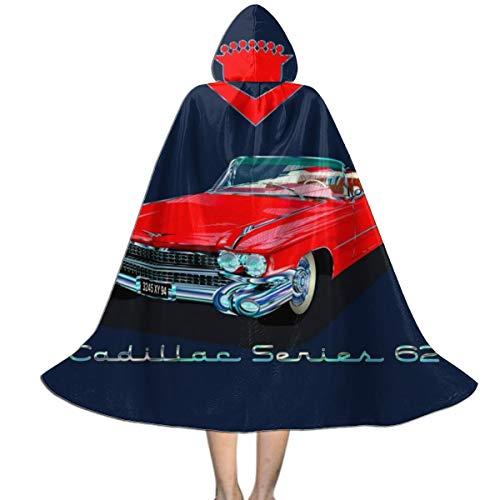 NUJSHF 1959 Cadillac Serie 62 Unisex Kinder Kapuzenumhang Umhang Cape Halloween Party Dekoration Rolle Cosplay Kostüme Outwear