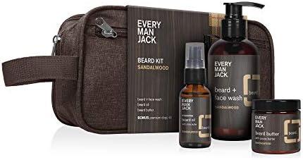 Every Man Jack Beard Kit Sandalwood Beard Face Wash Beard Oil Beard Butter Dopp Bag product image