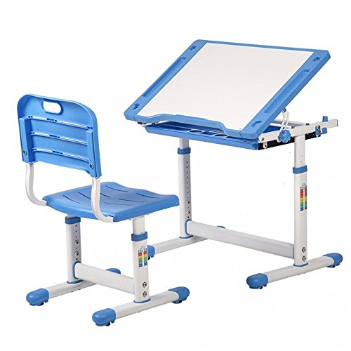 All Goodly Adjustable Children Study Table & Chair Set (BLUE)