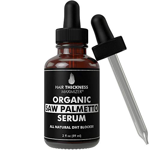 Organic Saw Palmetto Oil Serum. Stop Hair Loss Now by Hair Thickness Maximizer. Best Treatment for Hair Thinning. Hair Thickening Oils with Organic Pumpkin Seed Oil, Moringa Oil, Baobab Liquid (2 oz)