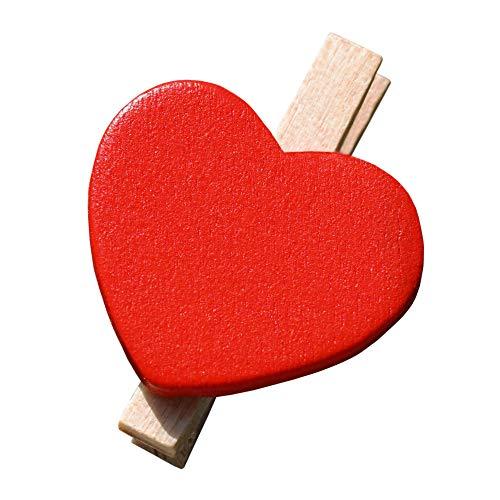EinsSein 100x Clip Decorative Decorazione staffe Cuore Set Rosso Albero della Vita segnaposto Matrimonio Tableau Decorazioni bomboniere bomboniera Comunione bigliettini tavoli Tavolo partecipazioni