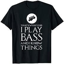 I Play Bass Funny Bass Guitar T Shirt Gift