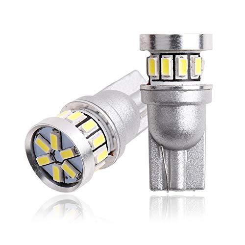 2 Bombillas LED, T10 Bombilla LED CANBUS 18SMD 3014, Utilizado para ESTACIONAMIENTO Ubicación Luz de Mapa Interno Luz de cúpula / 12V Blanco ámbar Azul Rojo,Crystal Blue