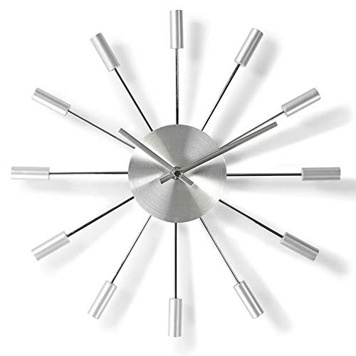 TronicXL Moderne Wanduhr modern für Küche Büro Wohnzimmer Uhr Silber