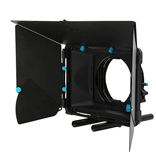 DAUERHAFT SLR Matte Box Utrustad med 2 fyrkantiga filterhållare professionell för A7, lämplig för SLR, digitalkamera, videoinspelning, korta filmer, filmer, reklam