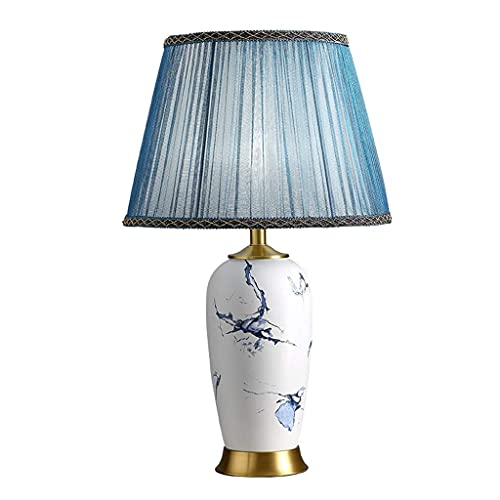 Home Equipment New Chinese Ceramic Table Lamp Bedroom Bedside Table Living Room Sofa Coffee Table High-End Chinese Landscape Dezhen Zen Decoration