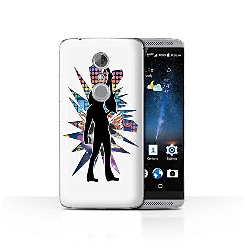 Handy Hülle kompatibel mit ZTE Axon 7/Axon 2 Rock Star Pose Reichen Weiß Transparent Klar Ultra Dünne Handyhülle Hülle Cover