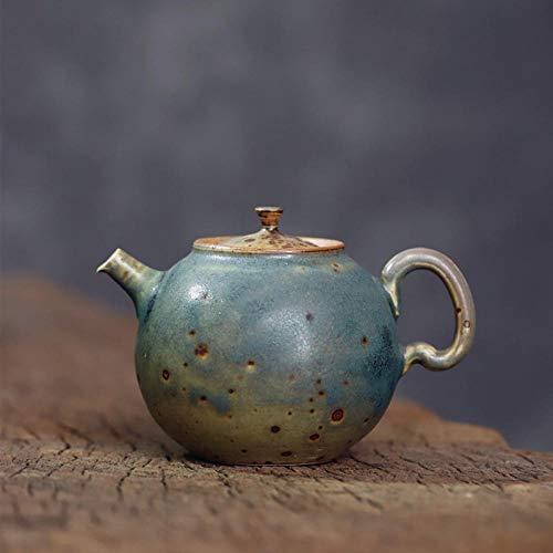 Tetera de porcelana de estilo japonés Tetera de cerámica del pote del juego personal del pote del agujero de la bola hecha a mano de la tetera del gres