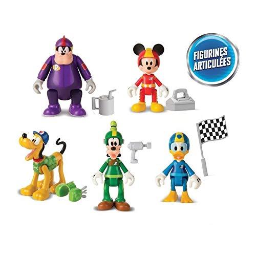 IMC Toys Topolino e Gli Amici del Rally Disney 5 Personaggi, 182950