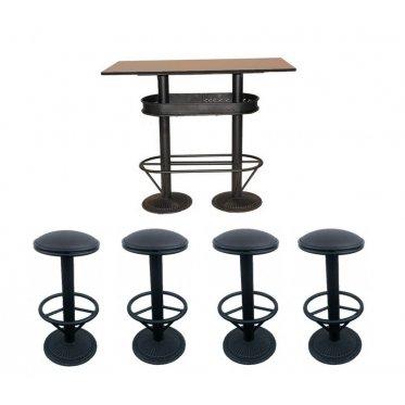 MATHI DESIGN Ensemble Table et tabourets