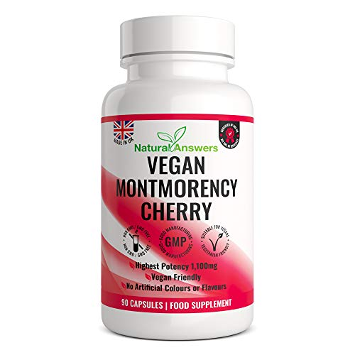 Montmorency Cherry | 90 Vegan Capsules | Cherry Extract 1100mg | High Strength Montmorency Cherries | UK Manufactured | UK Manufactured to GMP for Consistent High Quality | Trusted Brand GirlyFuels