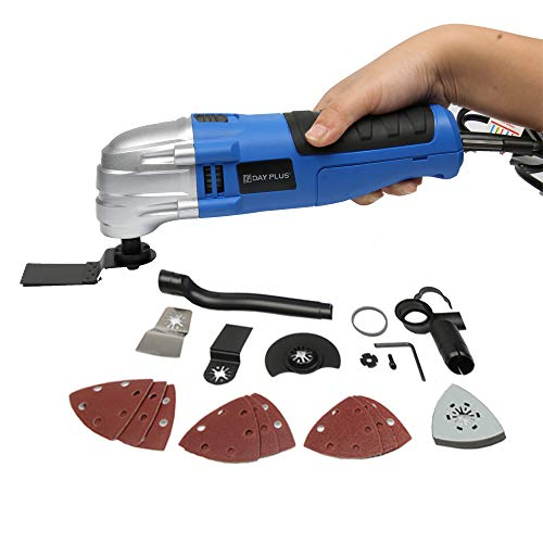 Best Prices! Multi Oscillating Tool Corded Oscillating Multitool Oscillating Angle 2.8° with 14 Acc...