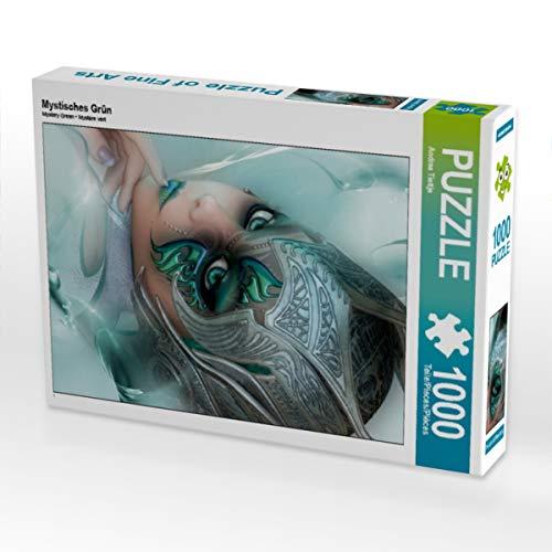 CALVENDO Puzzle Mystisches Grün 1000 Teile Lege-Größe 48 x 64 cm Foto-Puzzle Bild von Illu-Pic-A.T.Art