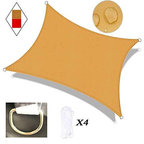 Toile de Soleil d'extérieur Voile Rectangle Red Canopy Cover UV Fabric Premium Awning pour Les rassemblements en Plein air dans Les Jardins et Les Cours