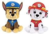 DHE Paw Patrol Plush Stuffed Animal Bundle of 2 Characters, 9 inch Chase and Marshall