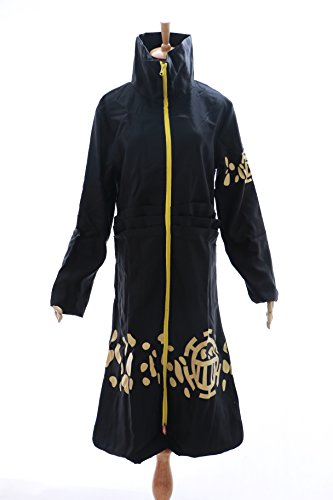 Kawaii-Story MN-OP-03 Law Trafalgar One Piece Pirat Cosplay Mantel Coat Kostüm Costume (Size XL)