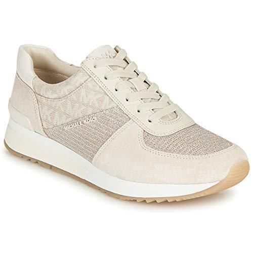 MICHAEL Michael Kors Allie Zapatillas Moda Mujeres Beige/Crema - 36 - Zapatillas Bajas Shoes