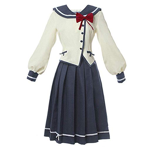 Charous Anime Ore wo Suki Nano Cosplay Kostüm Halloween Kostüm JK Schuluniform für Frauen Komplettes Set Gr. Medium, weiß