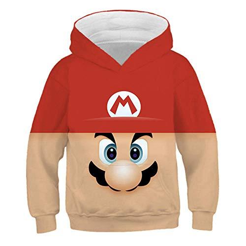 hhalibaba Juego clásico de Dibujos Animados Super Mario Bros Ropa Sudadera con Capucha para niños Bebés Hiphop Streetwear Chaquetas Lindas Chica Sudaderas Abrigos