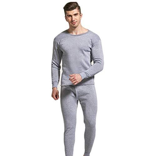 Gebuter - Conjunto de Pijama para Hombre, sin Costuras, elástico, cálido, de Terciopelo, con Capa de Base y Forro Polar,...