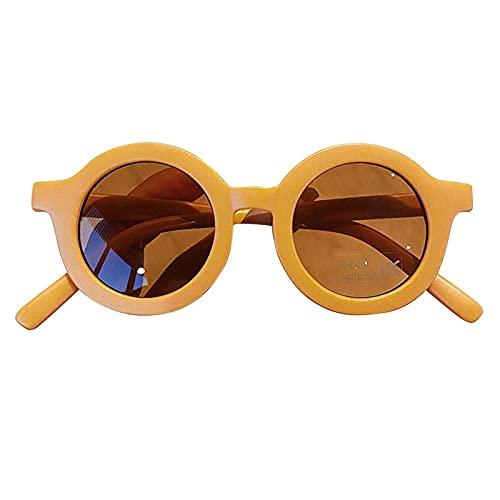 Tablecloth Gafas de sol de goma elásticas para niños, gafas de sol antiultravioleta, cómodas, adecuadas para niñas y niños, Amarillo, Medium