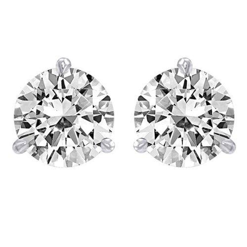 a226f6eb2 1 1/2 Carat Solitaire Diamond Stud Earrings 14K White Gold Round Brilliant  Shape 3