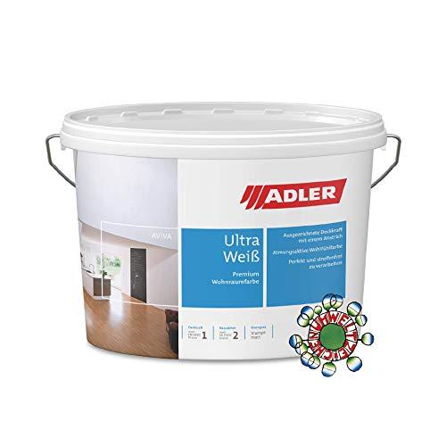 ADLER Wandfarbe weiss Aviva Ultra-Weiß, 9 Liter Dispersionsfarbe mit hohe Deckkraft für innen